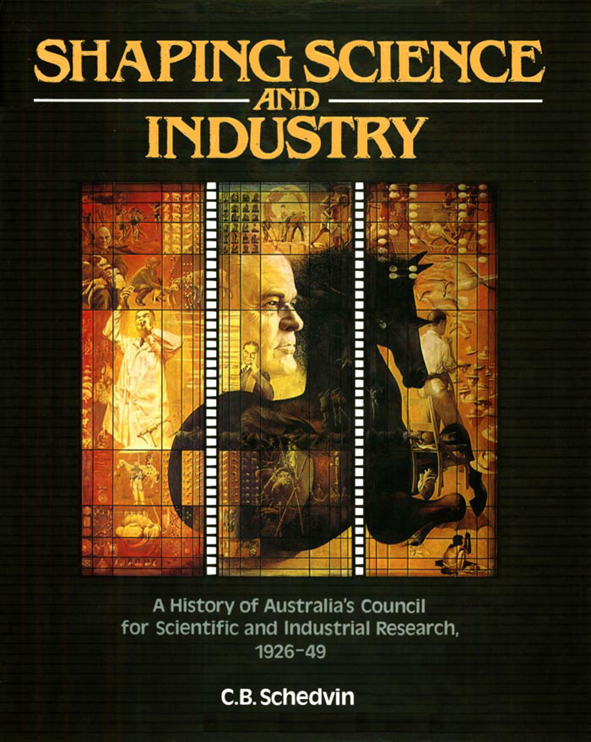 The cover image of Shaping Science and Industry, featuring small images of
