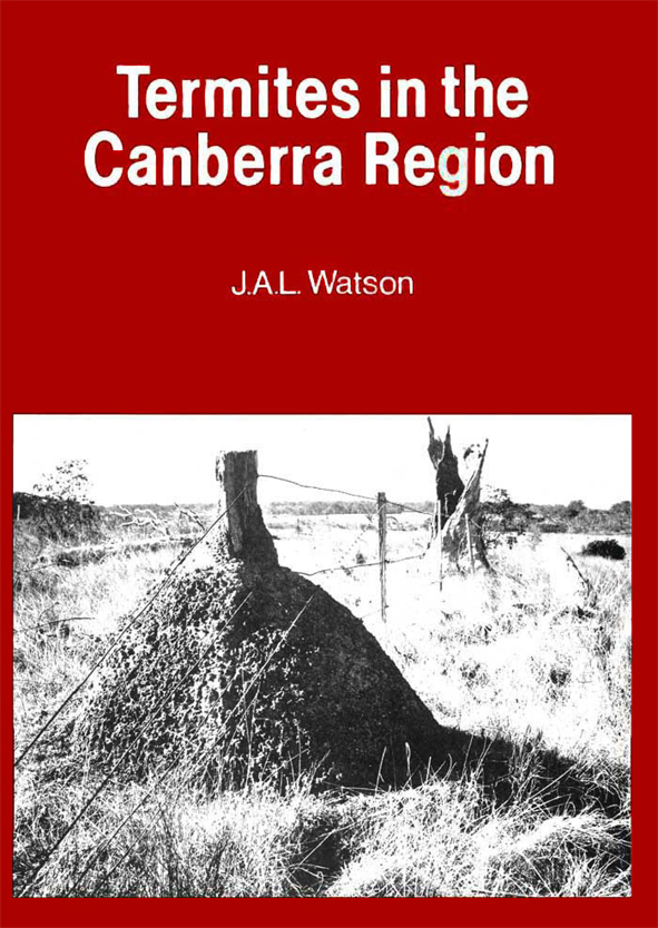 The cover image of Termites in the Canberra Region, featuring a black and