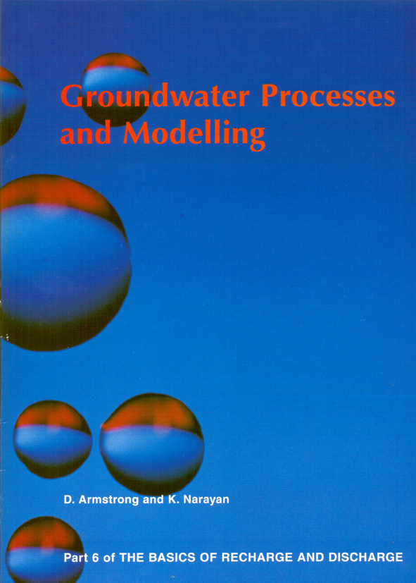 The cover image featuring large water bubbles, with red edging against a p