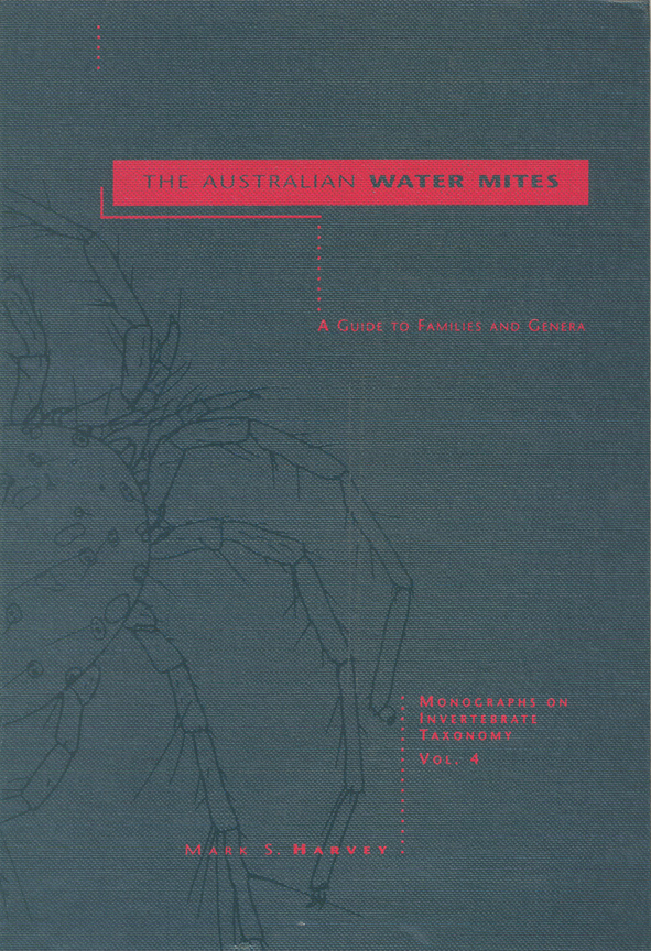 The cover image of The Australian Water Mites, featuring a plain grey cove