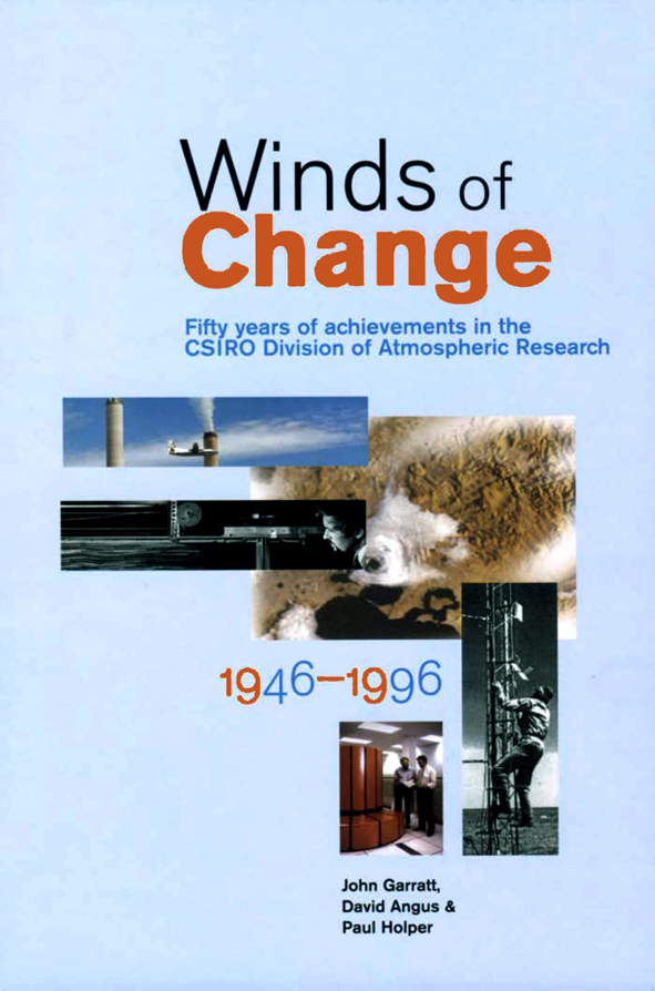 The cover image of Winds of Change, featuring five rectangular images rela