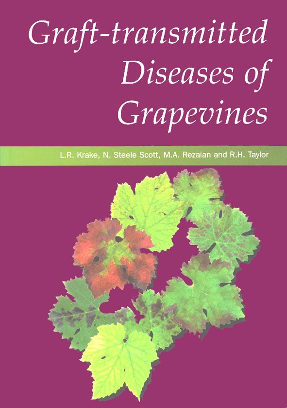 The cover image of Graft-transmitted Diseases of Grapevines, featuring  br