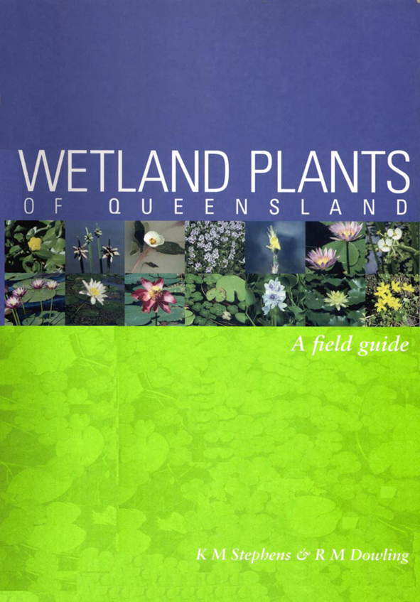 The cover image of Wetland Plants of Queensland, featuring a bright green