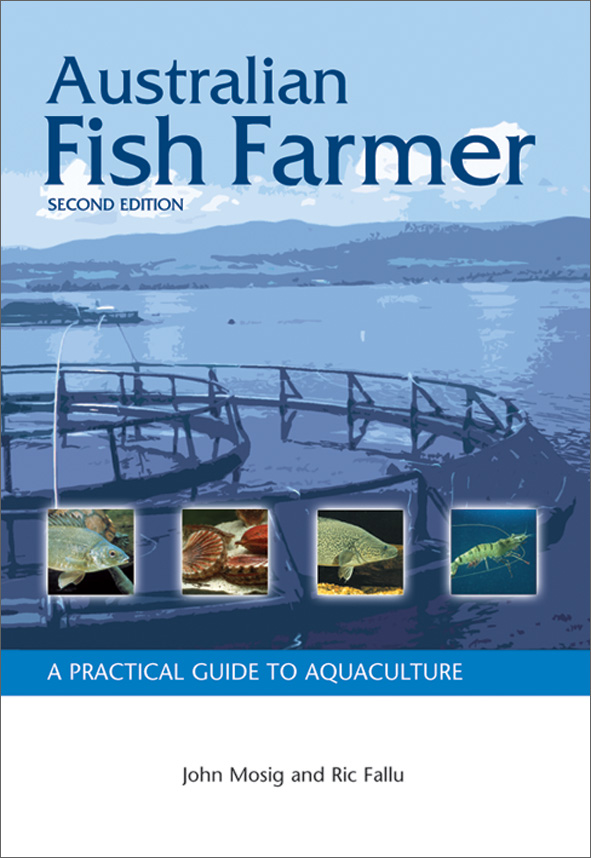 The cover image of Australian Fish Farmer, featuring a fish farm tub, with