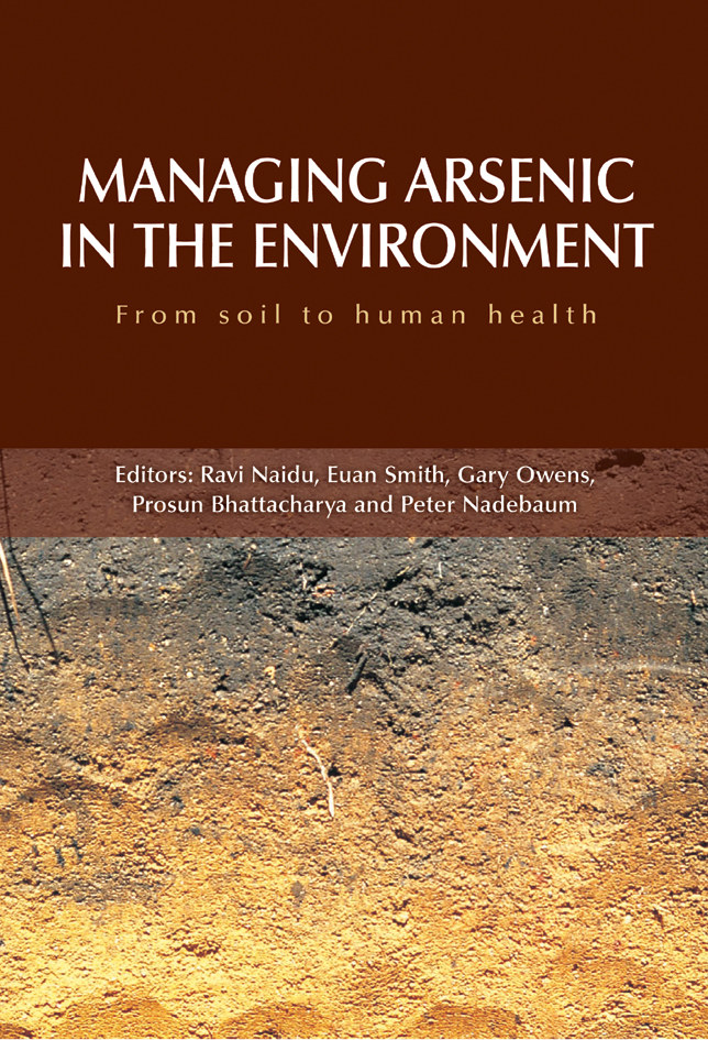 The cover image of Managing Arsenic in the Environment, featuring soil fad