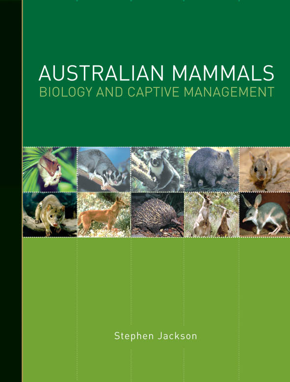 Cover image featuring ten small square image of Australian mammals, with a