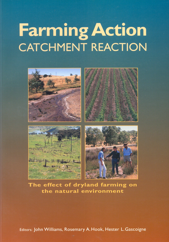 The cover image of Farming Action: Catchment Reaction, featuring four smal