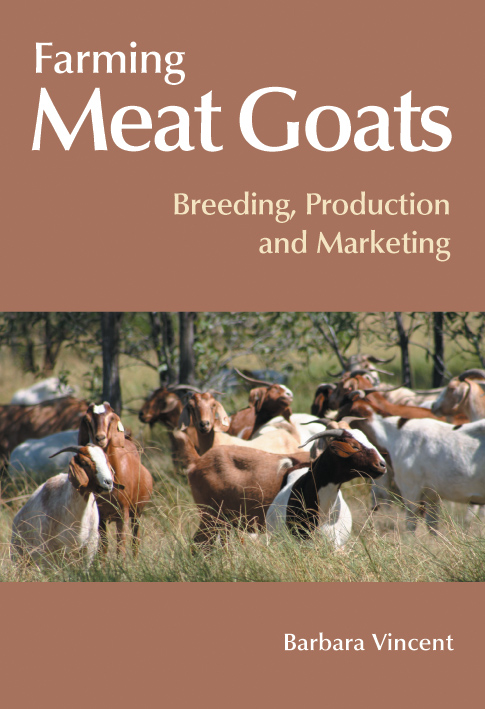Cover image featuring white and brown goats in long brown grass, with tree