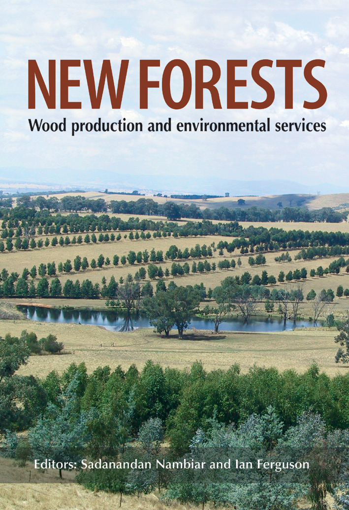 The cover image of New Forests, featuring a panoramic view of green trees