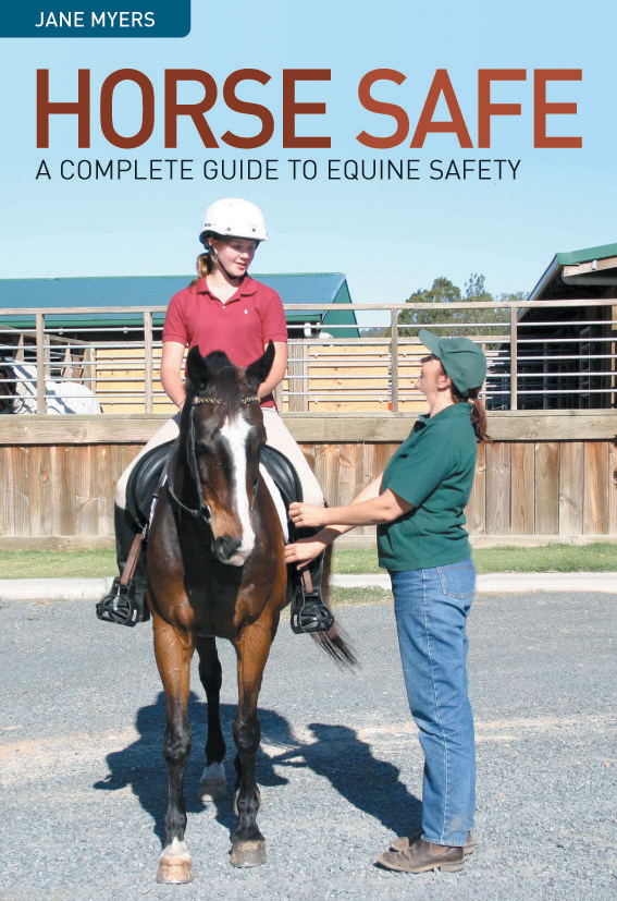The cover image featuring a teenage girl on a brown horse, which is being