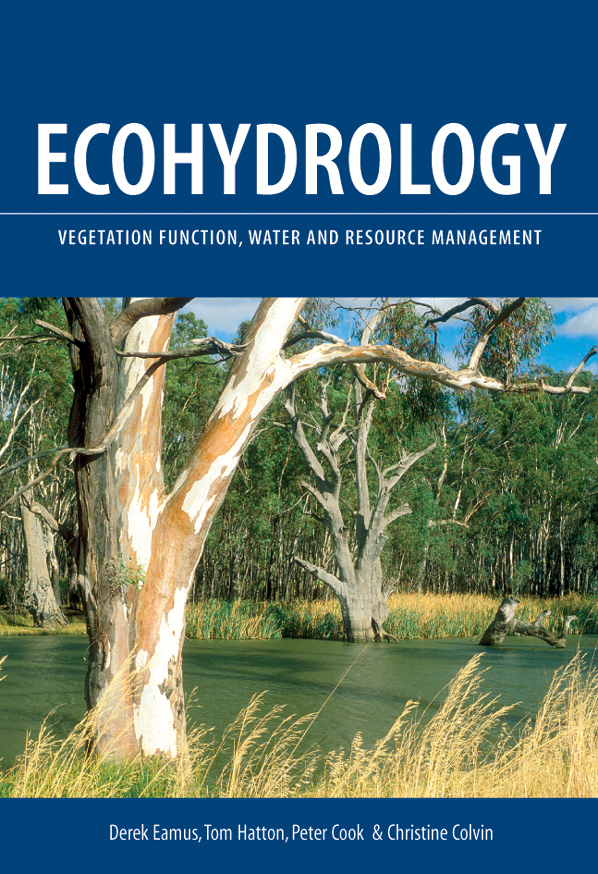 The cover image featuring a view of a river with gum trees sticking out of