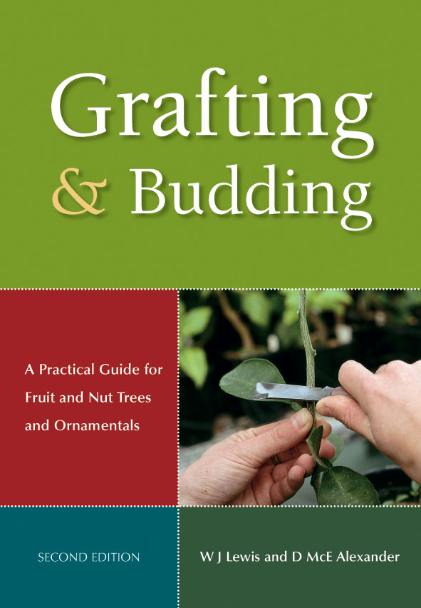 The cover image of Grafting and Budding, featuring two hands holding a pla