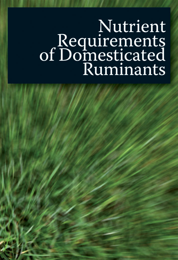 The cover image of Nutrient Requirements of Domesticated Ruminants, featur