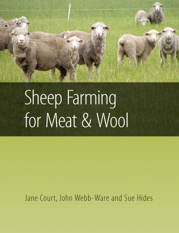 Cover image featuring white sheep in a pale green grassy paddock.