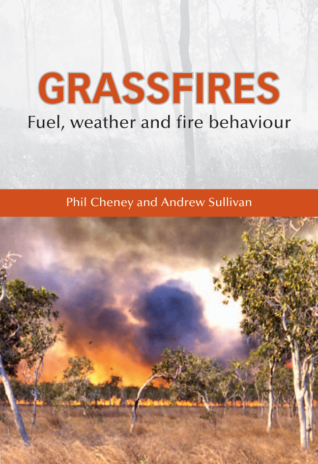 The cover image featuring a grass fire viewed from a distance with dry gra
