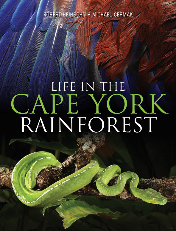 The cover image featuring a bright green snake wrapped around a branch; an