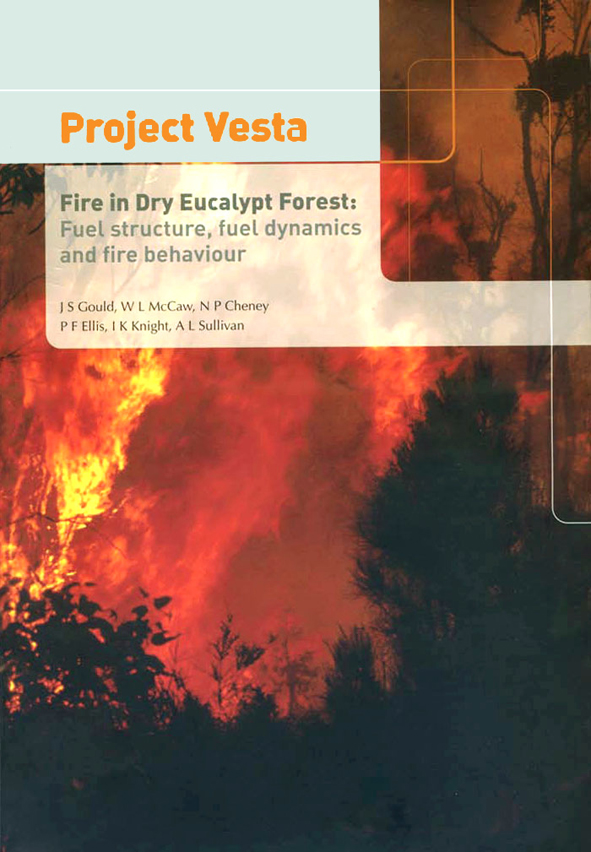 The cover image of Project Vesta: Fire in Dry Eucalypt Forest, featuring b