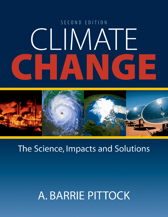 The cover image of Climate Change, featuring two pictures of different pow
