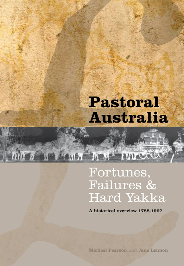 The cover image of Pastoral Australia, featuring a large British pound sym