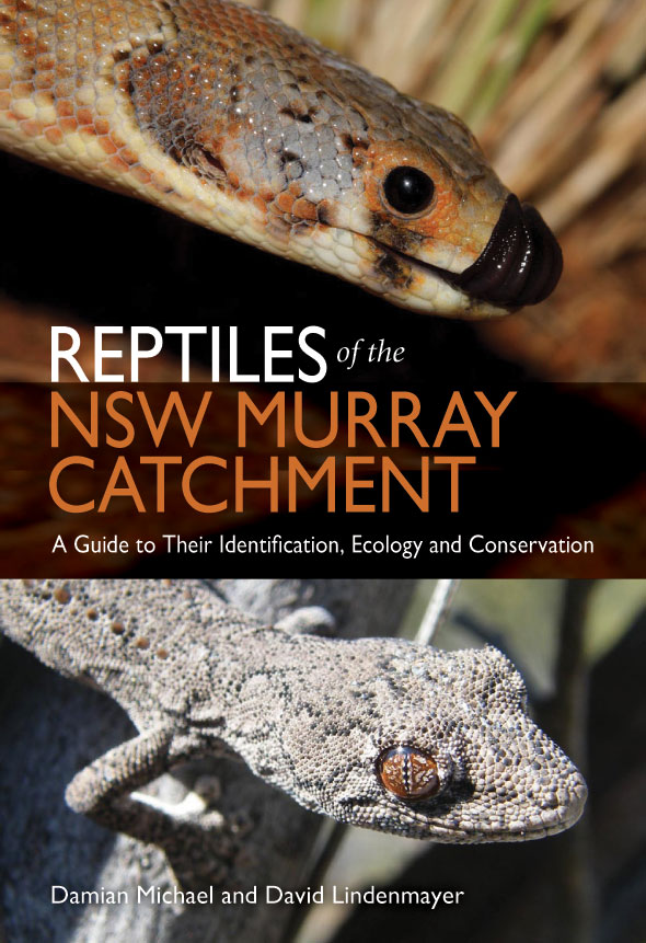 The cover image of Reptiles of the NSW Murray Catchment, featuring a snake