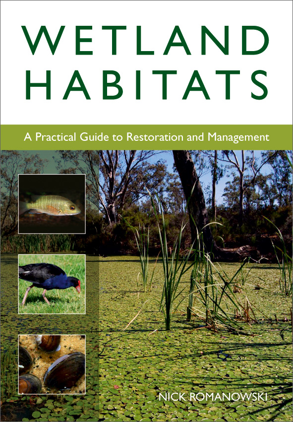 The cover image of Wetland Habitats, featuring a body of water covered in