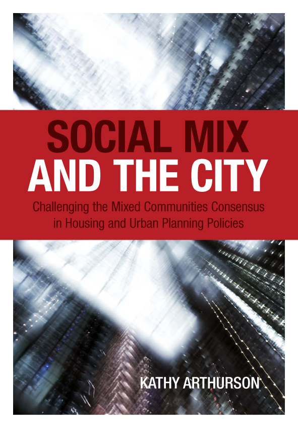 The cover image of Social Mix and the City, featuring a blurred view of ci