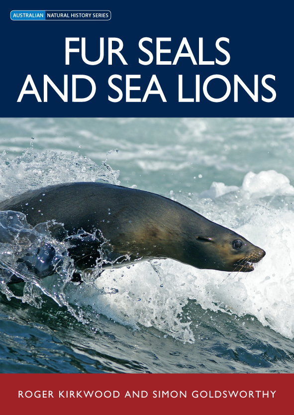 The cover image of Fur Seals and Sea Lions, featuring a sie view of a seal