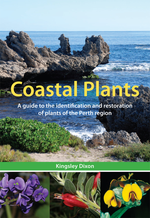 The cover image of Coastal Plants, featuring a view of a coastal outcrop w