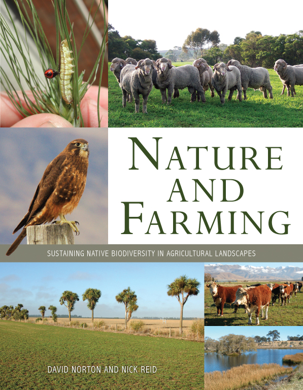 The cover image of Nature and Farming, featuring various pictures of the d
