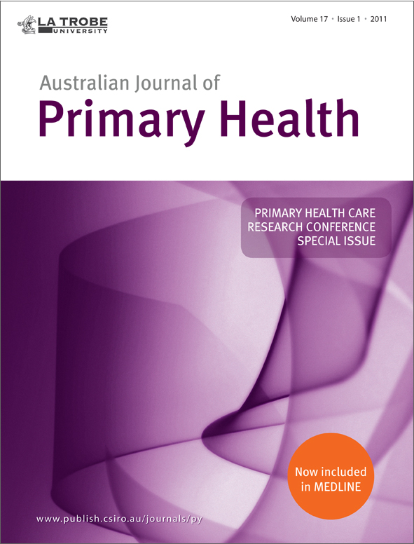 cover of Primary Health Care Research Conference