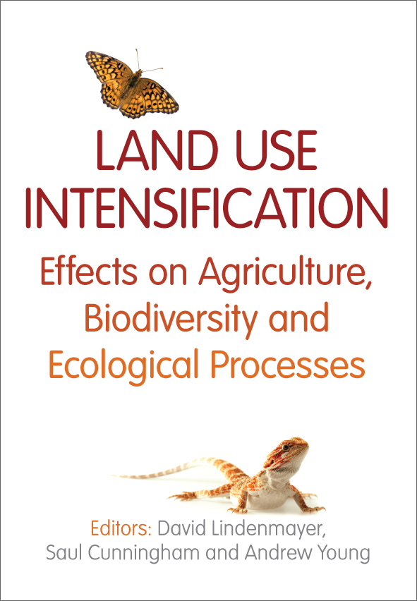 The cover image of Land Use Intensification, featuring a flying monarch bu
