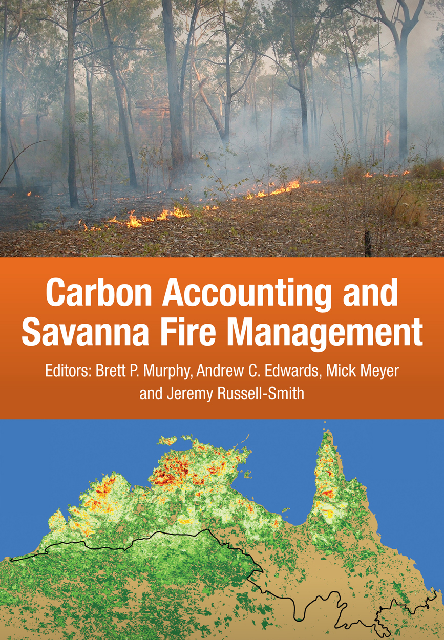 Cover shows a photo of a savanna fire at the top and a map of the top end