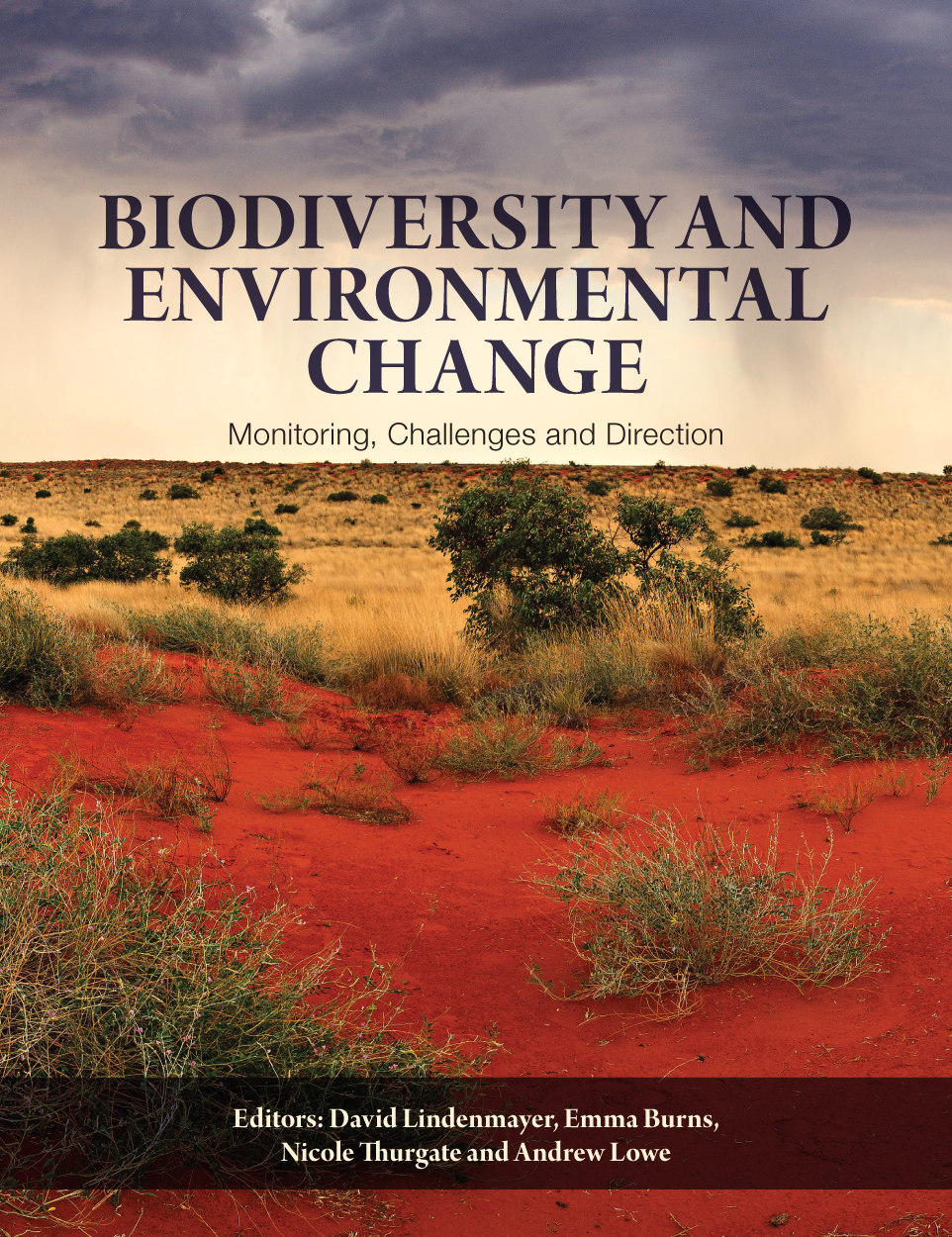 Cover image of Biodiversity and Environmental Change, featuring a desert v