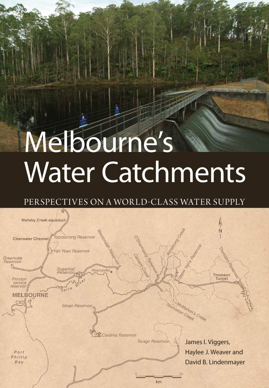 The cover image of Melbourne's Water Catchments, featuring two images, the