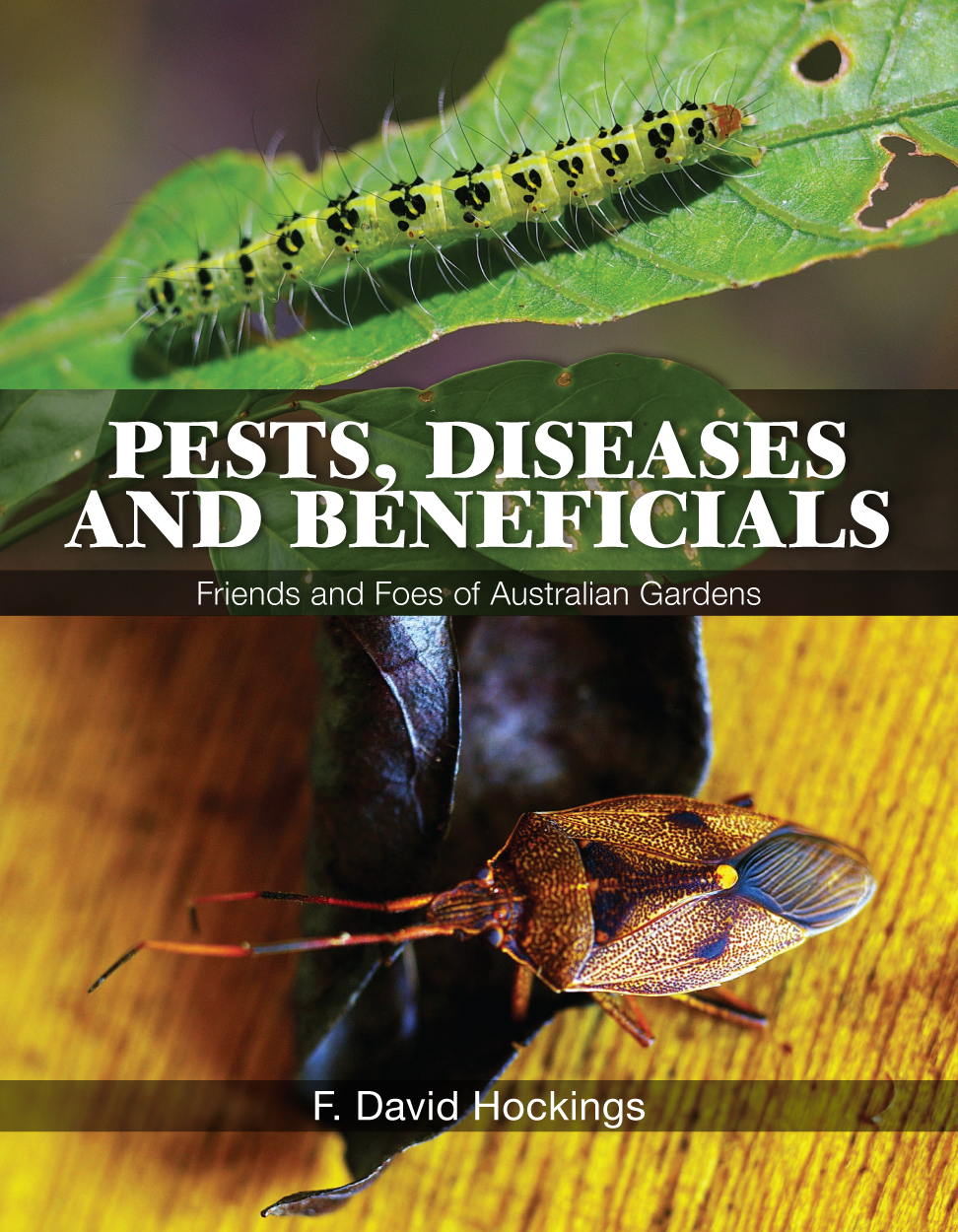 The cover image of Pests, Diseases and Beneficials, featuring two photogra