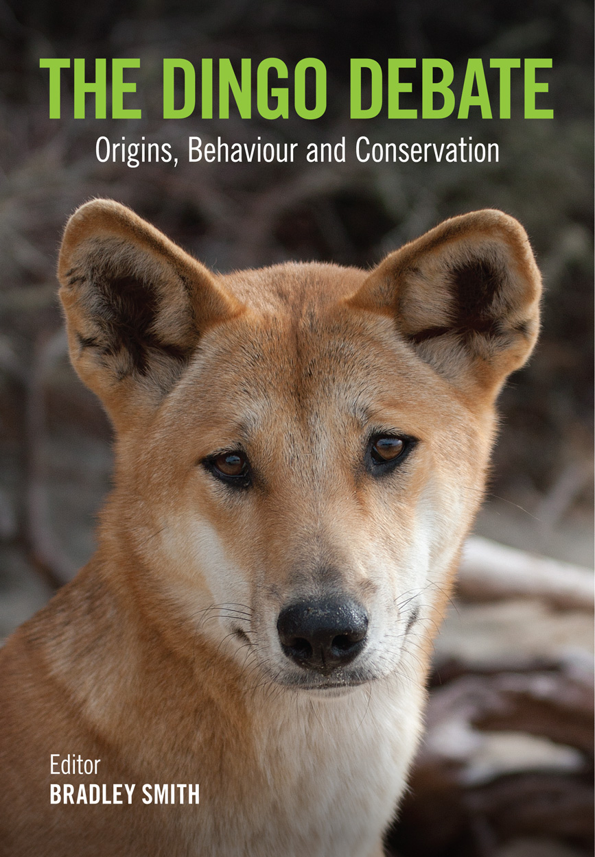 Cover image of The Dingo Debate, featuring a close-up photograph of a ding