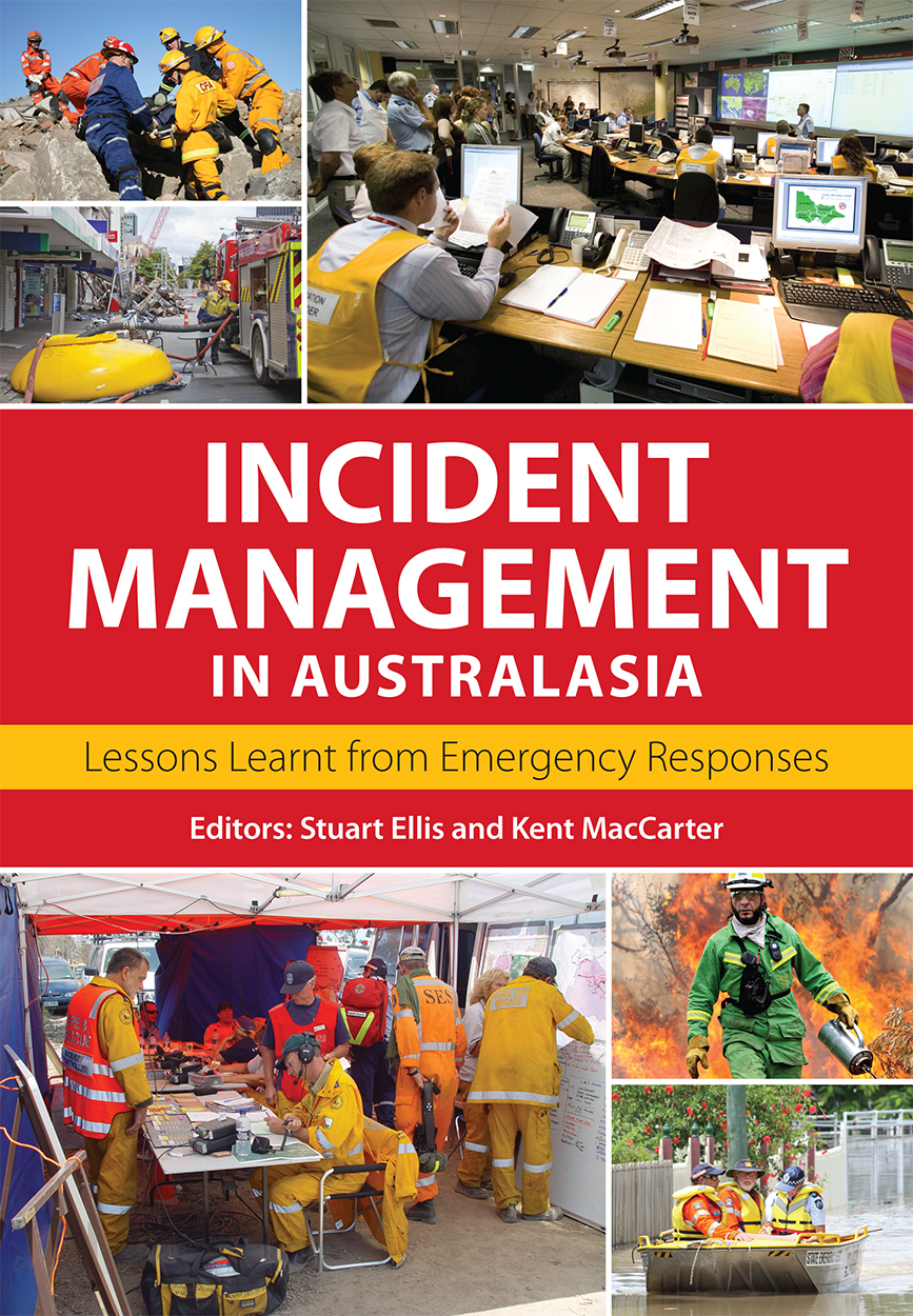 Cover of Incident Management in Australasia featuring photographs of emerg