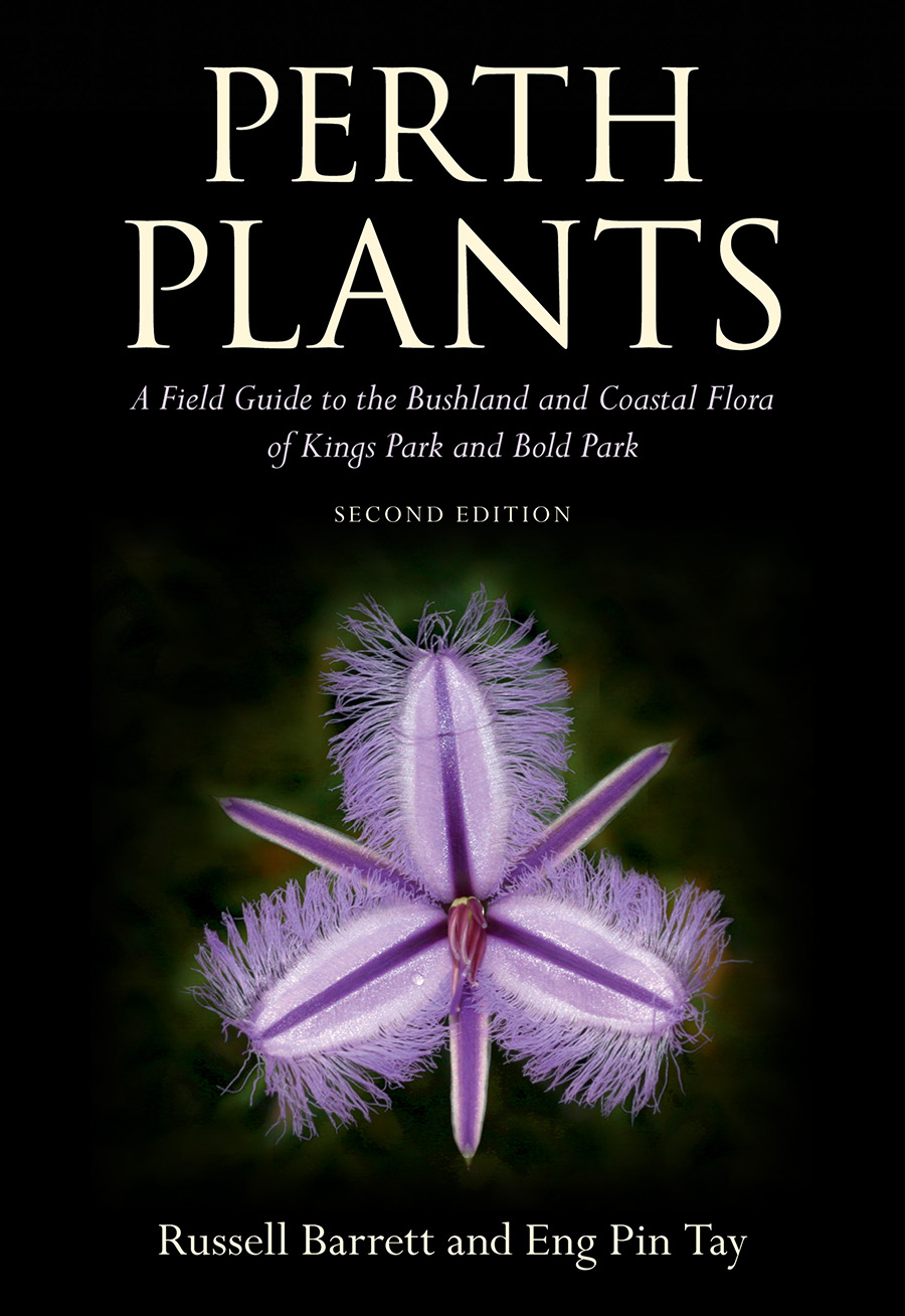 Cover Of Perth Plants Featuring An Image Of A Sanddune Fringed Lily On A