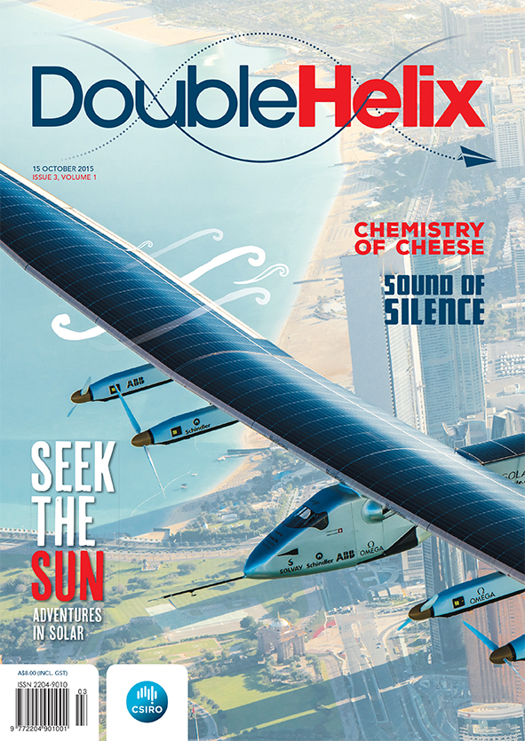 Cover image shows solar aeroplane over a coastal city backdrop.