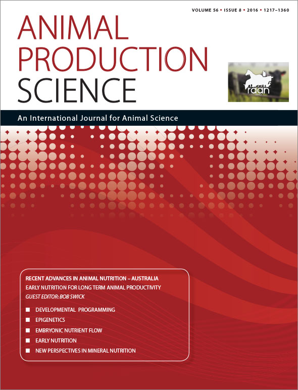 Red journal cover with journal name and Recent Advances in Animal Nutritio
