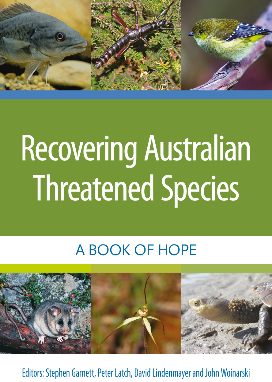 Cover of Recovering Australian Threatened Species featuring photos of a va
