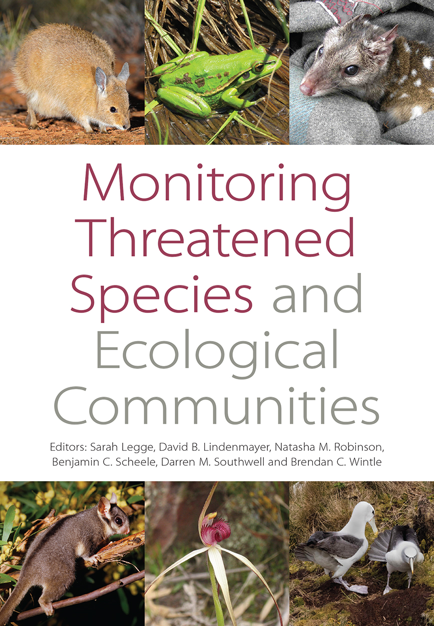 Cover featuring images of a variety of threatened Australian animals and p