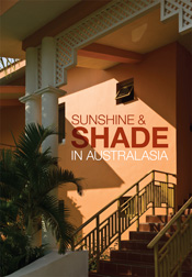 The cover image of Sunshine and Shade in Australasia, featuring a side vie