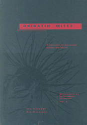 The cover image of Oribatid Mites, featuring a plain grey cover, with a da