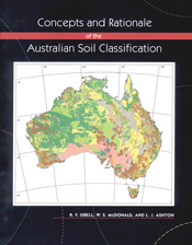 Cover image featuring a coloured map of Australia on black background