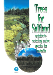 The cover image of Trees for Saltland, featuring a circular and rounded re