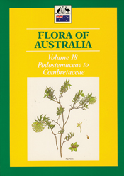 Cover image of Flora of Australia Volume 18, featuring botanical illustrat