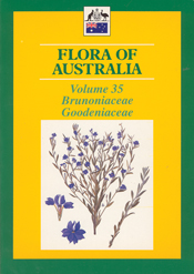Cover image of Flora of Australia Volume 35, featuring botanical illustrat