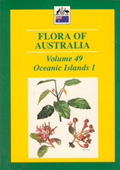 Cover image of Flora of Australia Volume 49, featuring botanical illustrat