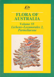 The cover image of Flora of Australia Volume 55, featuring a lichen, again